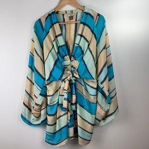 Issa London Silk Colourful Tunic/Dress Size 8